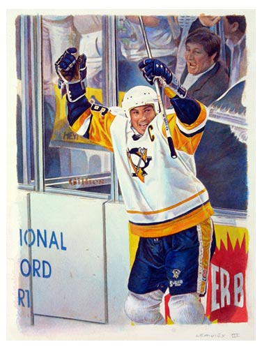 Mario Lemieux Upper Deck Original Art