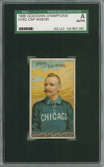 Because it's never too late to open a Cap Anson card in a pack, even 121 years later.