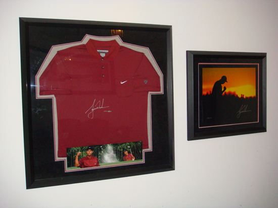 UDA Tiger Woods items in Silverman's collection.