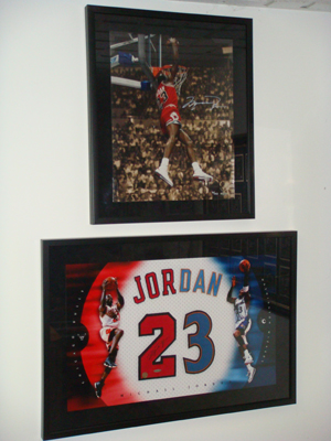 UDA Michael Jordan items in Silverman's collection.