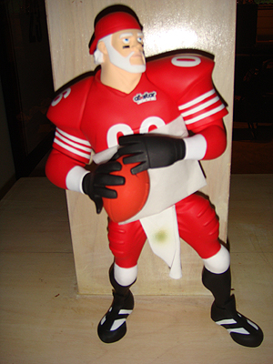 Silverman's Kris Kringle Roethlisberger All-Star Vinyl.