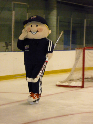 Coach Cardman hits the ice at the Hershey Centre.