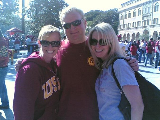 Me with my two cousins tailgating before a USC game. Sorry guys, they're both taken.
