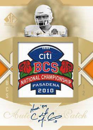 Colt McCoy SP Authentic Autographed Card