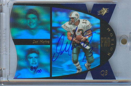 Dan marino Signed Upper Deck SPx Card