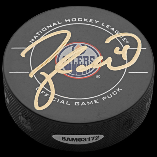 Taylor Hall Signed Puck from UDA