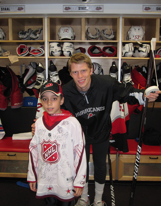Devin Ybarra and Eric Staal