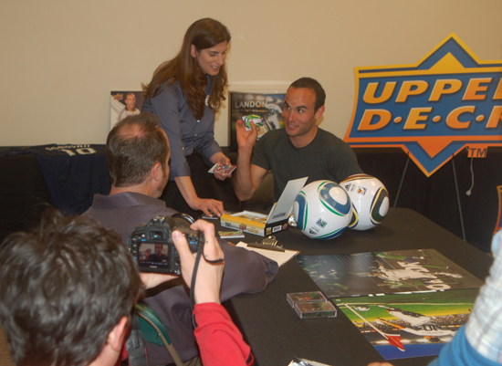 Landon Donovan Finds his Upper Deck base card.
