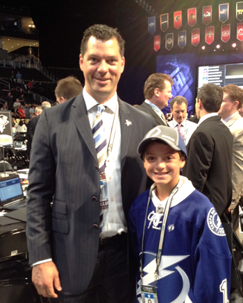 Draft runner meets Bill Guerin