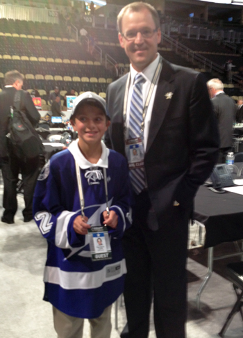 Draft Runner with Pittsburgh Penguins coach