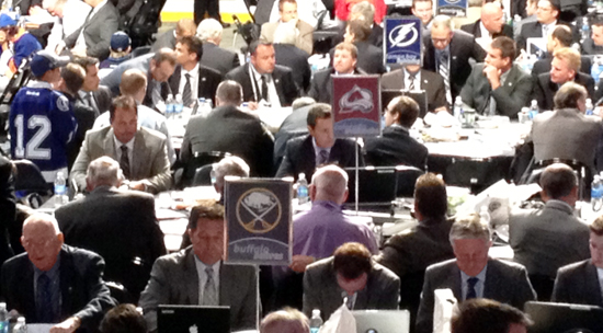 Draft floor Tampa Bay Lightning