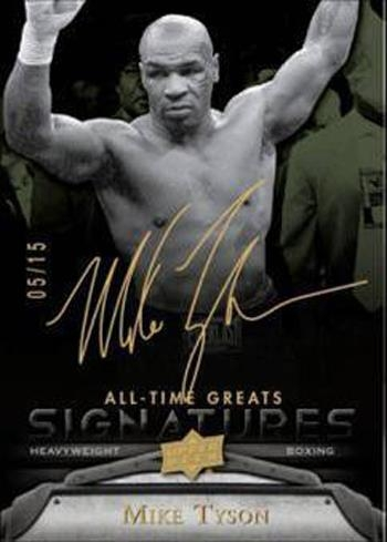 2012 Upper Deck All Time Greats Mike Tyson Autograph