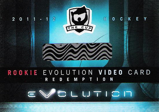 2011-12 NHL The Cup Rookie Evolution Video Redemption Card