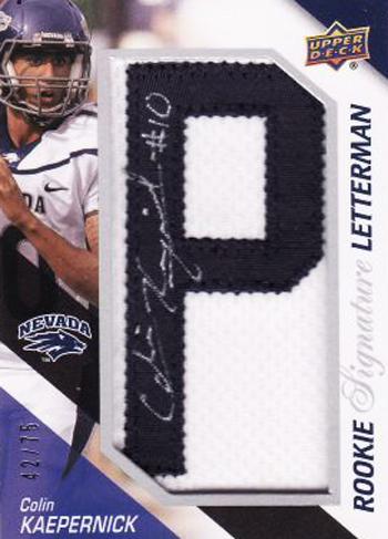 2011-Upper-Deck-Football-Letterman-Rookie-Autograph-Colin-Kaepernick