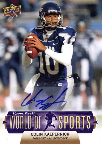 2011-Upper-Deck-Football-World-of-Sports-Autograph-Colin-Kaepernick