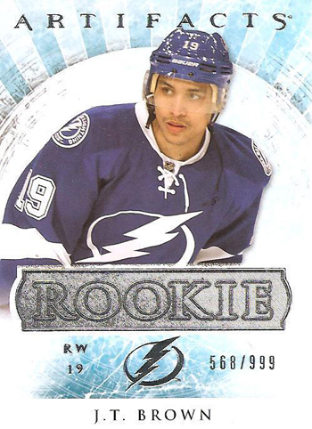 2012-13-NHL-Artifacts-JT-Brown-Tampa-Bay-Lightning-Rookie