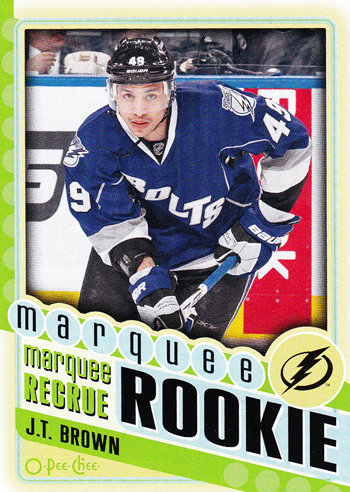 2012-13-O-Pee-Chee-NHL-JT-Brown-Tampa-Bay-Lightning-Marquee-Rookie