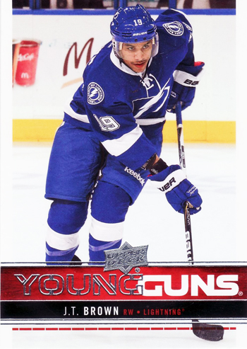 2012-13-Upper-Deck-Series-One-Young-Guns-JT-Brown-Tampa-Bay-Lightning-Rookie