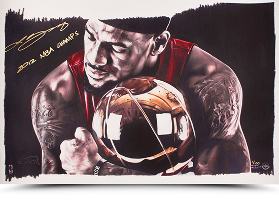 LeBron-James-Miami-Heat-Gift-Guide-Dad-Grad-Holiday-Autograph-Inscribed-Art-Print-2012-Champs-NBA
