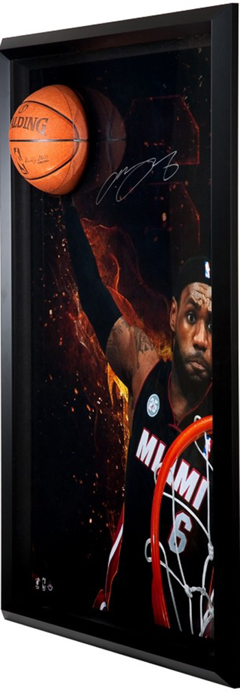 LeBron-James-Miami-Heat-Gift-Guide-Dad-Grad-Holiday-Breaking-Through-Rim-Roast-Memorabilia