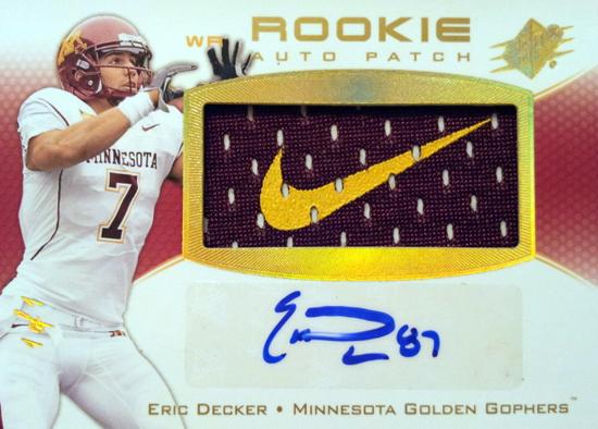 2010-SPx-Autograph-Rookie-Jersey-Eric-Decker