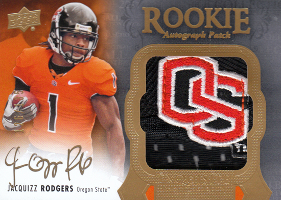 2011-Upper-Deck-Exquisite-Rookie-Autograph-Patch-Jacquizz-Rodgers