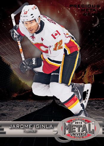 2012-13-NHL-Fleer-Metal-Universe-Precious-Metal-Gems-Card-Jarome-Iginla