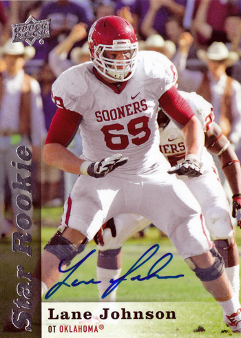 2013-Upper-Deck-Football-Autograph-Star-Rookie-Lane-Johnson