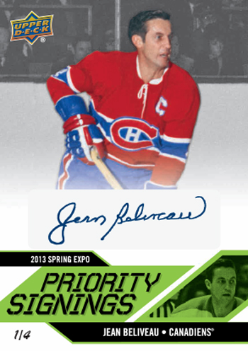 2013-Upper-Deck-Spring-NHL-Expo-Priority-Signings-Autograph-Jean-Beliveau