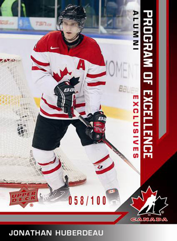 2013-Upper-Deck-Team-Canada-Hockey-Program-of-Excellence-Alumni-Red-Parallel-Jonathan-Huberdeau
