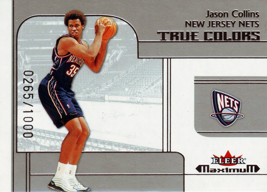 First-Gay-Athlete-Jason-Collins-2001-02-Fleer-Maximum-True-Colors-Card