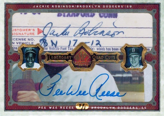 Jackie-Robinson-Collect-2006-SP-Legendary-Cuts-Quad-Pee-Wee-Reese-Front