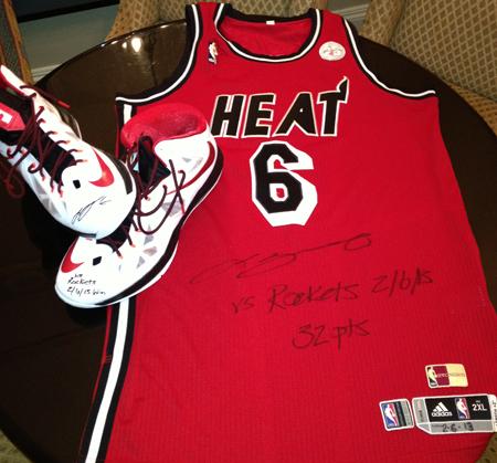 LeBron-James-Signing-3-7-13-Game-Worn-Jersey-Shoes-UDA