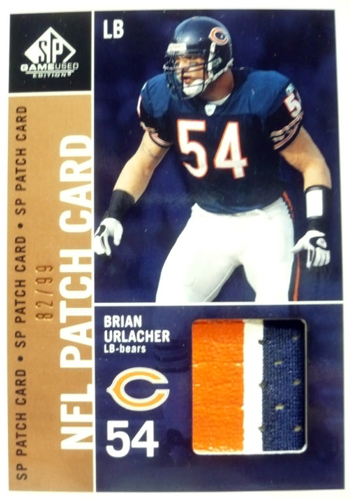 2003-Gameused-Patch-Brian-Urlacher-Chicago-Bears-Upper-Deck