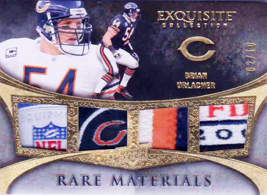 2009-Exquisite-Collection-Quad-Patch-Brian-Urlacher-Upper-Deck