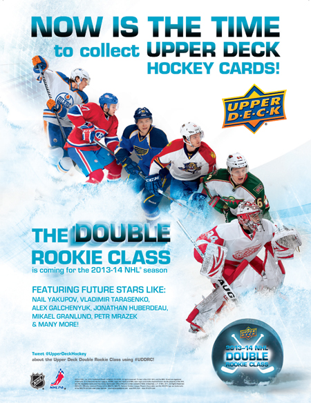2013-14-NHL-Upper-Deck-Double-Rookie-Class-Advertisement-Print