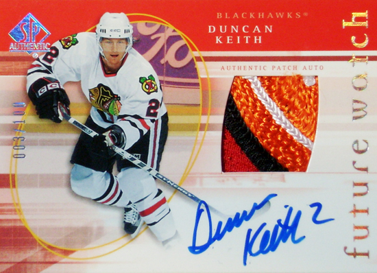 Chicago-Blackhawks-05-06-NHL-SP-Authentic-Duncan-Keith-Rookie-Autograph-Patch-Card