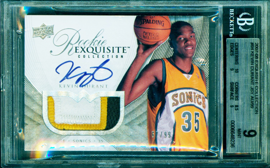 2007-08-Exquistion-Collection-Upper-Deck-Kevin-Durant-Rookie-Autograph-Patch-Card
