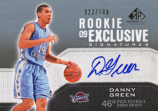 2009-10-NBA-Danny-Green-San-Antonio-Spurs-Autograph-SP-Game-Used-Edition-Card