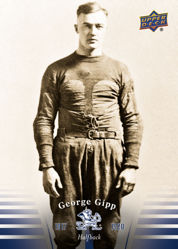 2013-Upper-Deck-Notre-Dame-Football-George-Gipp