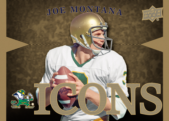 2013-Upper-Deck-Notre-Dame-Football-Icons-Joe-Montana