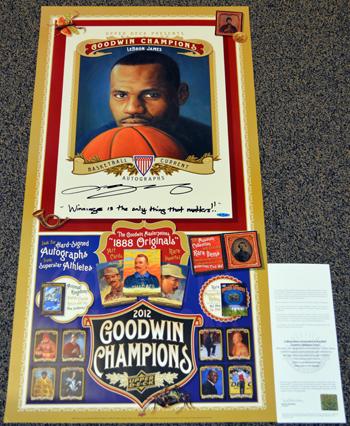 2013-Diamond-Club-Event-LeBron-James-Autograph-Goodwin-Poster