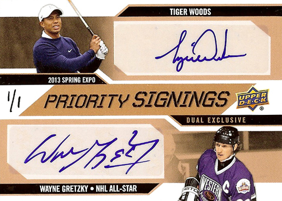 2013-National-Sports-Collectors-Convention-Diamond-Club-Event-Tiger-Woods-Wayne-Gretzky-Autograph