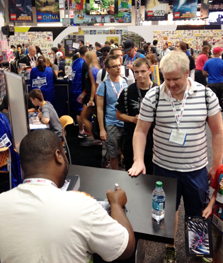 Comic-Con-San-Diego-Upper-Deck-Best-Worst-Dressed-2013-JJ-Kirby-Signing