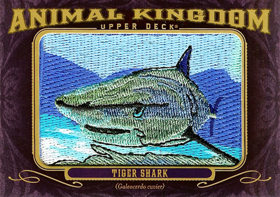 Sharknado-2012-Goodwin-Champions-Animal-Kingdom-Patch-Cards-Tiger-Shark