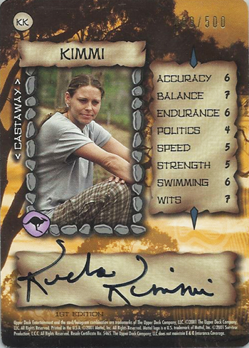 Collecting-Survivor-Season-Two-Austalian-Outback-Kimmi