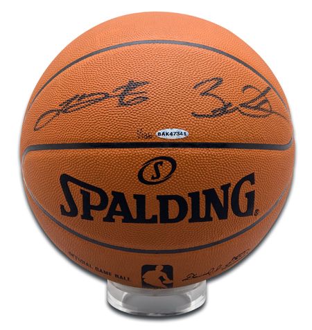 LeBron-James-Dwyane-Wade-Autographed-Basketball-Miami-Heat-Upper-Deck-Authenticated