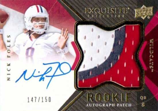 2012-Exquisite-Collection-Football-Autograph-Patch-Rookie-Nick-Foles