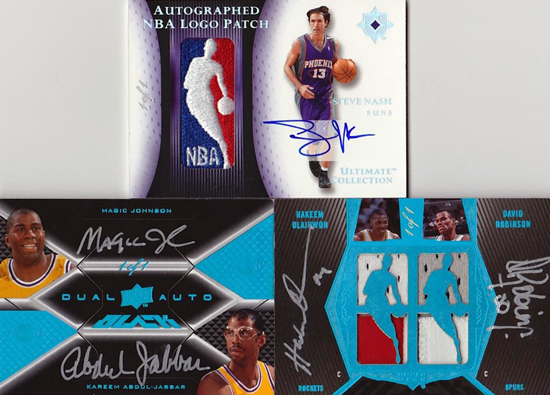 Amazing-Best-Upper-Deck-Basketball-NBA-Collection-Cards-Autograph-Game-Used-Exquisite-logo-man-one-of-one