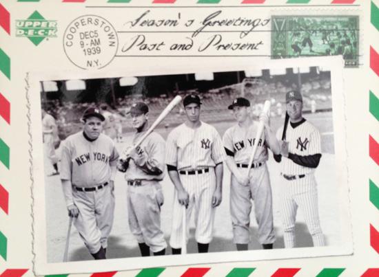 Santa-Card-2004-Upper-Deck-Yankee-Legends-Ruth-DiMaggio-Gehrig-Mantle-Jeter